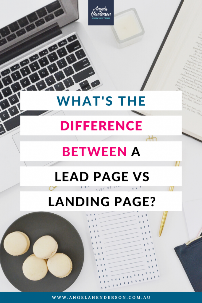 lead page vs landing page