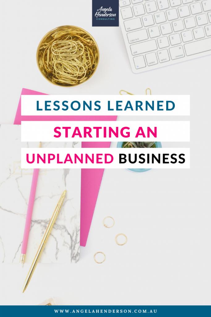 unplanned business
